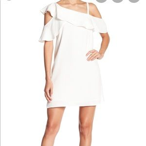 Rachel Roy Asymmetric Ruffle Dress